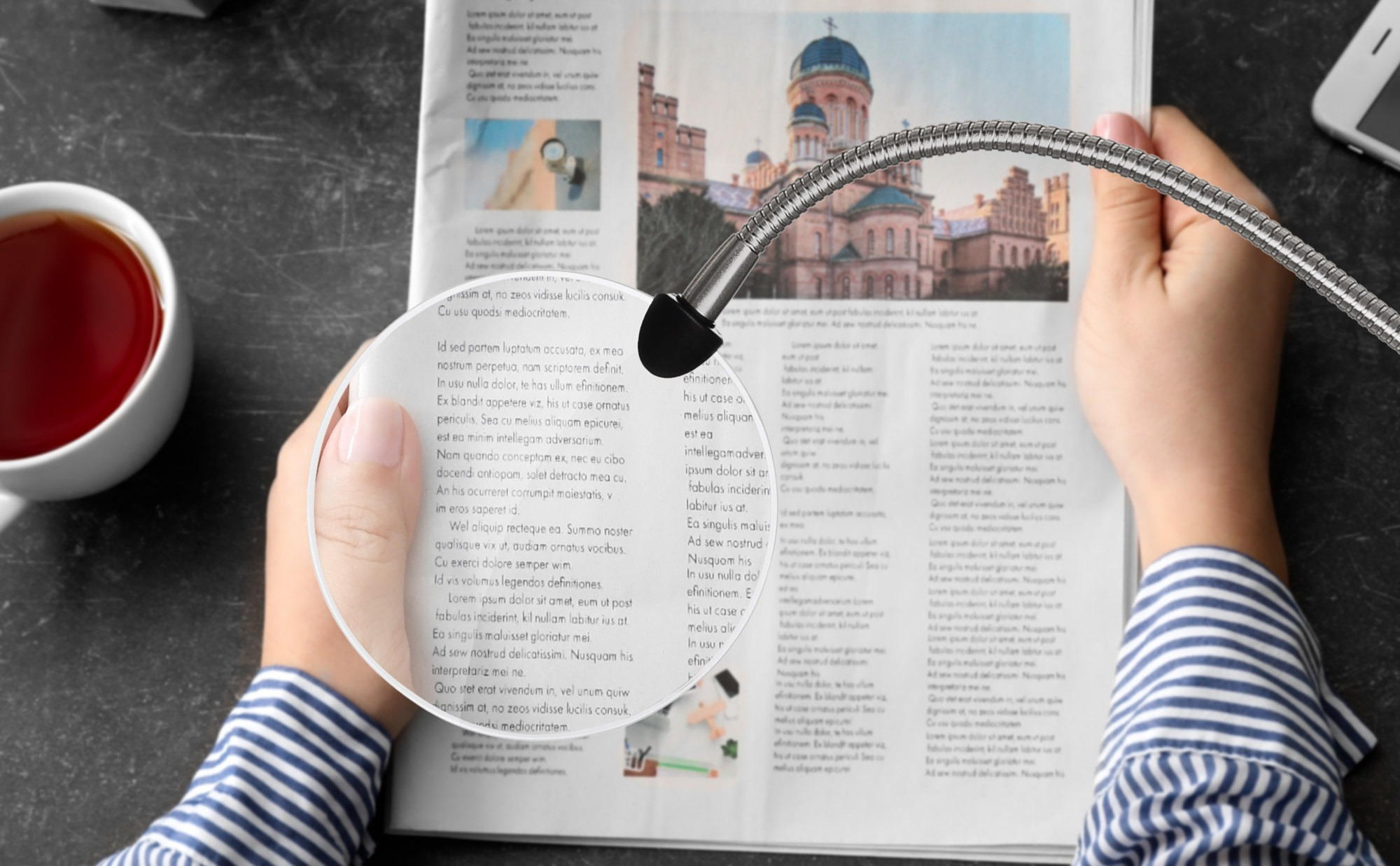 91707 Magnifying arm for reading
